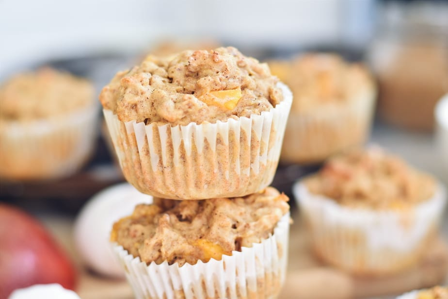 Muffin mangue, All Bran, fromage cottage et noix de cajou - Mango, cashew and cottage cheese muffins   www.cuisinedopamine.com